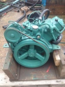 USED Volvo Penta MD5a 7.5 HP Marine Diesel Engine Package