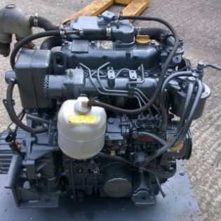 USED Yanmar 3JH25 25hp Marine Diesel Engine Package